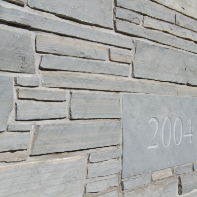Owen Sound Ledgerock - Grey Roots Museum & Archives Project - Exterior Stone showcasing Natural Bed Ledgerock, Owen Sound Buff and Wiarton Grey